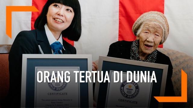 Kane Tanaka ditetapkan sebagai orang tertua di dunia versi Guinness World Record. Ia berusia 116 tahun.