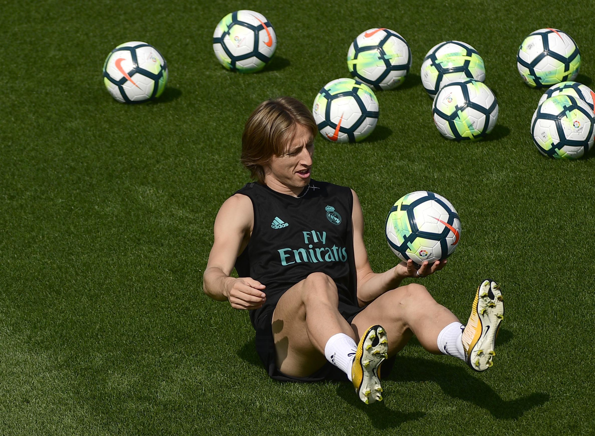 Gelandang Real Madrid Luka Modric. (AFP/Pierre-Philippe Marcou)