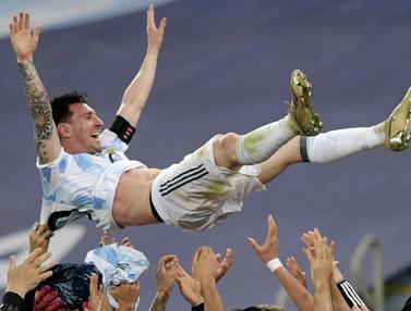 Foto Copa America: Momen Terbaik Sepanjang Copa America 2021, Lionel Messi Akhirnya Juara