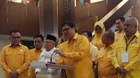 Bakal Cawapres Ma'ruf Amin mengunjungi DPP Partai Golkar, Jakarta, Jumat (10/8/2018). (Merdeka.com/Hari Ariyanti)