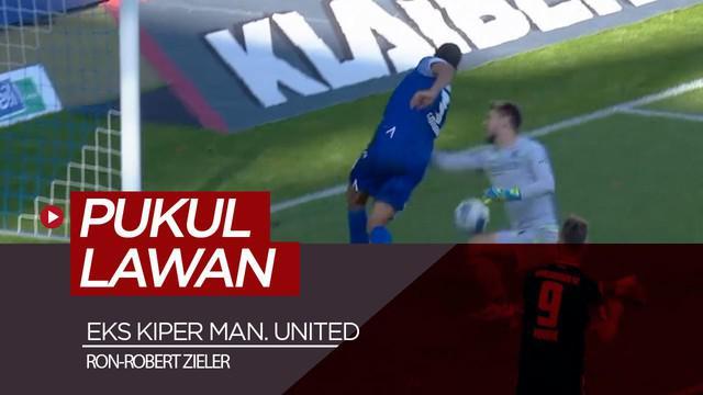 Berita video eks kiper Manchester United, Ron-Robert Zieler, memukul pemain lawan yang membobol gawangnya dalam pertandingan Divisi II Liga Jerman, 2. Bundesliga 2019-2020.