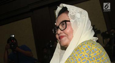 Terdakwa kasus korupsi alat kesehatan Siti Fadilah Supari menjalani sidang dengan agenda pembacaan putusan di Pengadilan Tipikor Jakarta, Jumat (16/6). (Liputan6.com/Helmi Afandi)