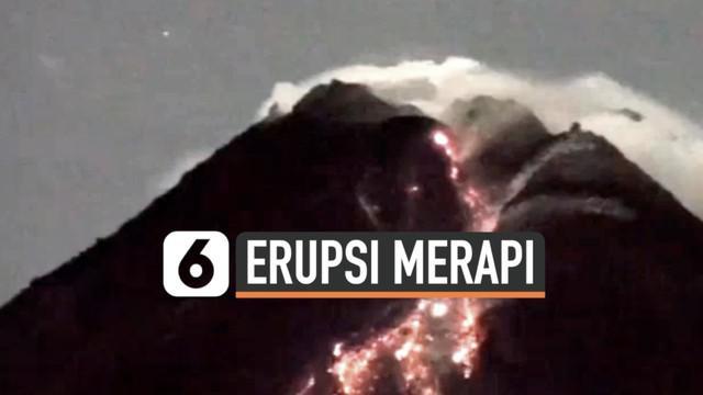 Gunung Merapi masih menunjukkan aktivitas vulkaniknya. Senin (22/2) malam Merapi muntahkan lava pijar ke berbagai arah dengan jarak luncuran capai 1,2 kilometer.