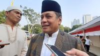 Ketua DPD I Partai Golkar Sulawesi Selatan, Nurdin Halid Saat Diwawancarai di DPP Partai Golkar, Kemanggisan, Jakarta Barat, Minggu (11/8/2019). (Foto: Merdeka.com)