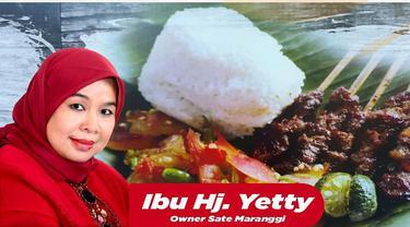 Pemilik Rumah Makan Sate Maranggi Purwakarta, Hj Yetty. Istimewa