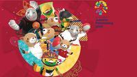 Banner Indonesia Berkibar di 25 Cabang Olahraga Asian Games 2018. (Liputan6.com/Triyasni)