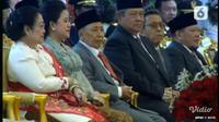 Presiden ke-5 RI Megawati Soekarnoputri dan Presiden ke-6 RI Susilo Bambang Yudhoyono atau SBY. (Liputan6.com)