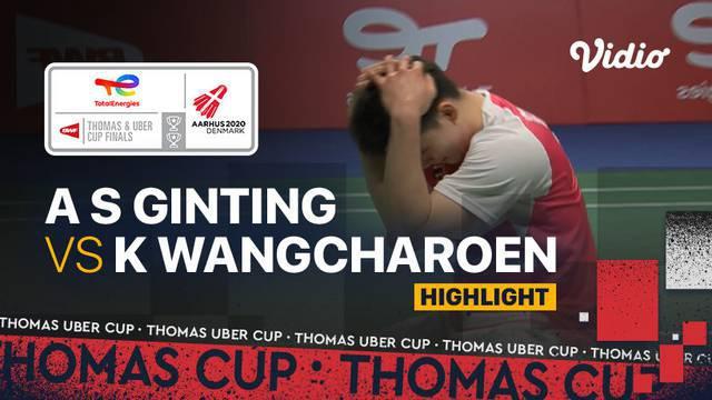 Berita video highlights pertandingan pertama Indonesia vs Thailand di Grup A Piala Thomas 2020, di mana Anthony Ginting kalah dari Kantaphon Wangcharoen, Senin (11/10/2021) malam hari WIB.
