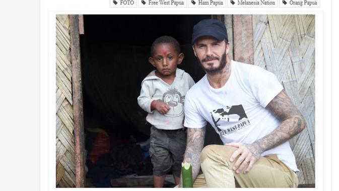[Cek Fakta] David Beckham Datang dan Bantu Anak Papua, Benarkah?