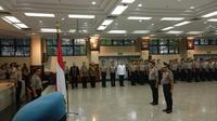 Prosesi kenaikan pangkat 20 perwira Polri (Liputan6.com/Nafiyul Qodar)