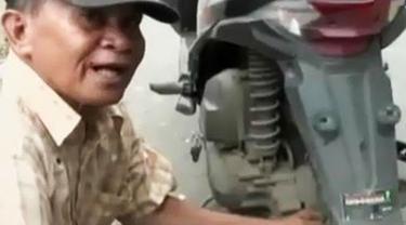 VIDEO: Aiptu Mustamin, 20 Tahun Nyambi Jadi Penambal Ban