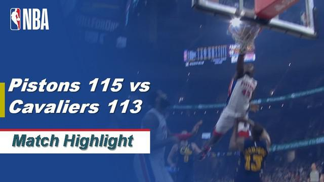 Berita Video Highlihts NBA 2019-2020, Detroit Pistons Vs Cleveland Cavaliers 115-113
