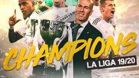 Real Madrid - Juara La Liga Musim 2019/2020 (Bola.com/Adreanus Titus)