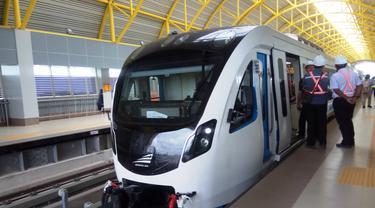 Waktu Tempuh Tercepat LRT Palembang Belum Capai Target