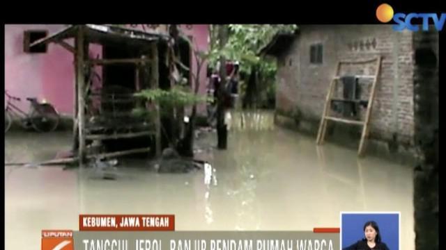 Area persawahan milik warga dan area pemakaman umum bahkan ikut terendam banjir.
