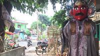 ampung Ondel-ondel di Jalan Kembang Pacar, Kramat Pulo, Senen, Jakarta Pusat, salah satu sudut Jakarta yang bertahan melestarikan kesenian ondel-ondel (Liputan6.com/Devira)