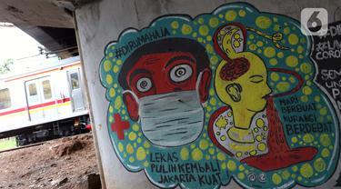 Pesan Waspada COVID-19 Lewat Goresan Mural