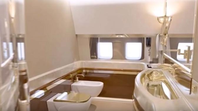 Pesawat jet IL-96-300PU milik Presiden Rusia Vladimir Putin. (screengrab YouTube)