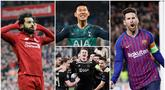 Berikut ini empat pemain yang tampil gemilang di perempat final Liga Champions 2019. Diantaranya, Lionel messi, Son Heung-Min, Mohamed Salah dan Matthijs de Ligt. (Foto-foto Kolase AP dan AFP)