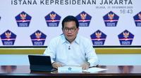 Juru Bicara Satgas COVID-19 Wiku Adisasmito meyakinkan pemerintah pastikan vaksin Corona akan tersedia untuk seluruh masyarakat Indonesia saat konferensi pers di Kantor Presiden, Jakarta, Selasa (15/12/2020). (Biro Pers Sekretariat Presiden)