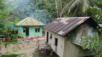Rumah-rumah warga yang berdampingan dengan hutan di Desa Lampo, Donggala. (Foto: Liputan6.com/ Heri Susanto)
