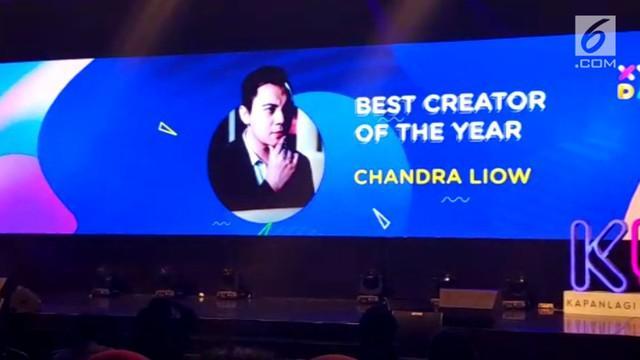 Setelah mendapat dua penghargaan di bidang berbeda, Chandra Liow dinobatkan menjadi best creator di XYZ Day 2018.