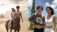 6 Editan Foto Pria Liburan Bersama Artis Cewek di Pantai Ini Bikin Ngakak (sumber: Instagram/srdesignart/victorahmadd)