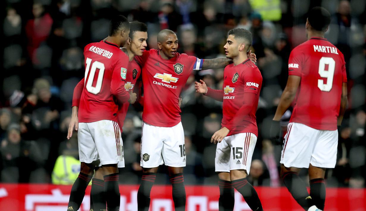 FOTO Kalahkan Colchester United MU Lolos Ke Semifinal