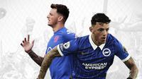 Pemain Timnas Inggris dan Brighton Hove Albion: Ben White. (Bola.com/Dody Iryawan)