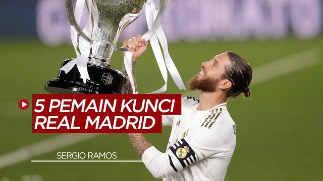 Berita Video Sergio Ramos dan 4 Pemain Lainnya yang Menjadi Kunci Real Madrid Juara La Liga Musim Ini