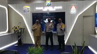 Direktorat Lalu Lintas (Ditlantas) Polda Jawa Timur meluncurkan Traffic Attitude Record (TAR) yang dilaksanakan di ruang Tribrata, Polres Tulungagung, Jawa Timur, Senin (21/9/2020). (Foto: Dok Istimewa)