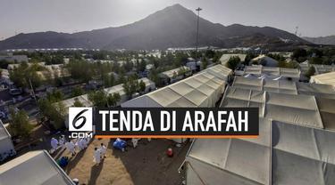 Para jemaah haji Indonesia sudah berada di Arafah. Beginilah suasana jemaah haji di dalam tenda.