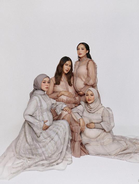 Nagita Slavina, Paula Verhoeven, Lesti Kejora, Aurel Hermansyah (Instagram/raffinagita1717)