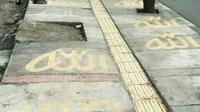 Aksi Vandalisme di Jalan Leuwi Panjang, Bandung. Foto: (JawaPos.com)