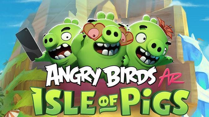 Gim Angry Birds AR: Isle of Pigs kini menyambangi platfrom Android (sumber: Rovio)