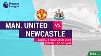 Jadwal Premier League 2018-2019 pekan ke-8, Mancehster United vs Newcastle United. (Bola.com/Dody Iryawan)