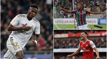 Vinicius Junior menjadi pemain asal Brasil berusia di bawah 21 tahun dengan harga transfer yang cukup tinggi, lantas siapa saja pemain muda asal Negeri Samba Bernilai tinggi. Berikut 6 pemain Brasil berusia di bawah 21 tahun yang memiliki market value tinggi.(kolase foto AFP)
