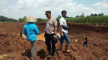 Dua bocah yang tengah bermain dan mencari bunglon tewas tenggelam di bekas penambangan pasir, di Pemalang. (Foto: Liputan6.com/Humas Polres Pemalang)