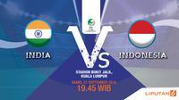 Prediksi India vs Indonesia Piala AFC U-16 2018 (Liputan6.com/Trie yas)