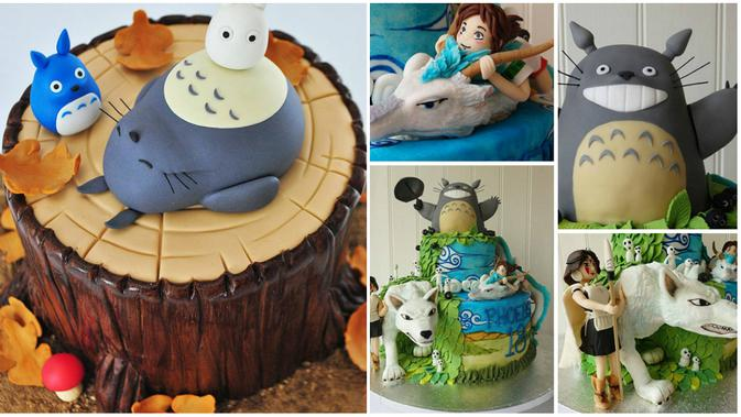 Kue Ulang Tahun Cantik Bertema Karakter Kartun Totoro Global Liputan6 Com