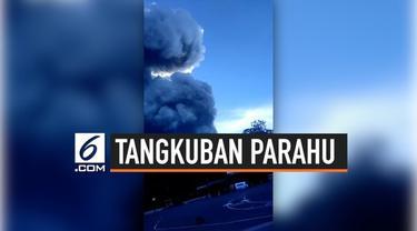 Gunung Tangkuban Parahu mengalami erupsi pada pukul 15.48 WIB, Jumat (26/7/2019). Lontaran abu mencapai ketinggian sekitar 200 meter. Topik mengenai Tangkuban Parahu menjadi Trending Topic di Twitter Indonesia.