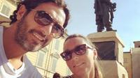 Cristiana Gambis dan Alessandro Lucarelli. (Twitter Alessandro Lucarelli