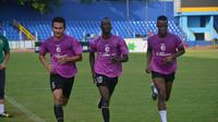 Makan Konate saat berlatih bersama Sriwijaya FC. (Bola.com/Riskha Prasetya)