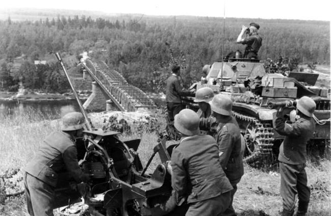 Operasi Barbarossa dalam Perang Dunia II, salah satu invasi paling besar dalam sejarah. (Sumber Wikimedia Commons/Bundesarchiv Bild 101I-265-0026A-30)