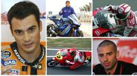 Beberapa pebalap hebat gagal meraih gelar pada ajang MotoGP. (Dari berbagai sumber)