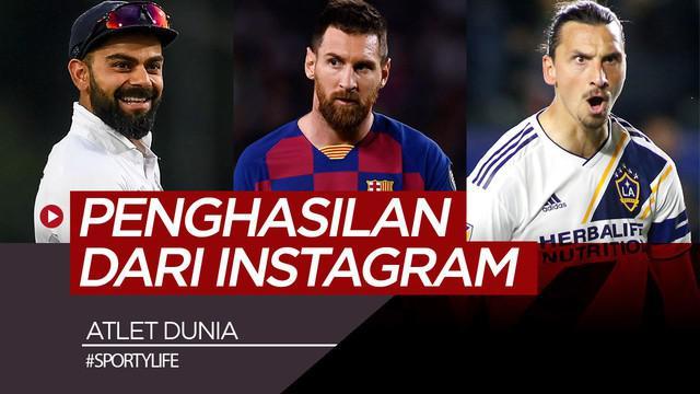 Berita video atlet-atlet dunia yang juga mendapatkan penghasilan besar dari mengunggah konten di media sosial Instagram.