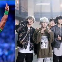 John Cena menawarkan diri untuk menjadi bodyguard BTS. (Sumber Foto: AllKpop)
