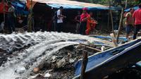 Memasuki hari ke-11, jenazah 11 penambang emas liar di Merangin, Jambi, belum juga ditemukan. (Liputan6.com/Bangun Santoso)