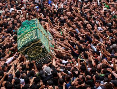 Peringati Wafatnya Imam Syiah, Ribuan Umat Syiah Banjiri Makam Musa al-Kadhim