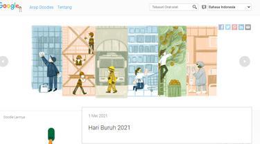 Google Doodle Hari Buruh 2021
